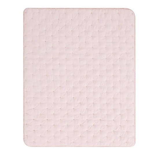 Pottery Barn Kids Amelia Toddler Quilt Dusty Rose