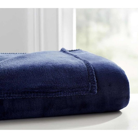 Pottery Barn Kids Cozy Solid Bed Blanket Navy