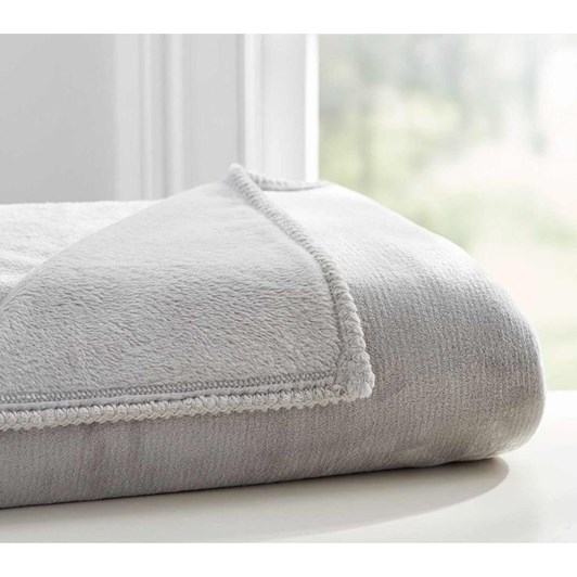 Pottery Barn Kids Cozy Solid Bed Blanket Grey
