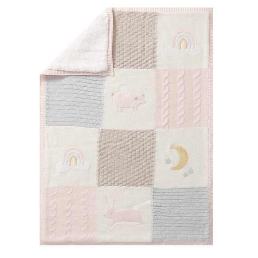 Pottery Barn Kids Heirloom Bunny Baby Blanket Blush