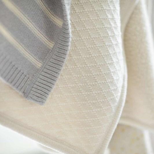 Pottery Barn Kids Luxe Knit Sherpa Stroller Blanket Ivory