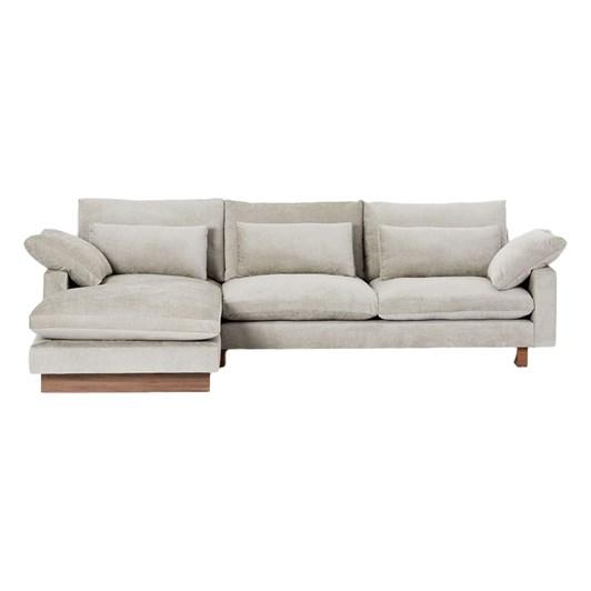 West Elm Harmony 4 Seater Chaise Modula Sofa Left Facing Option