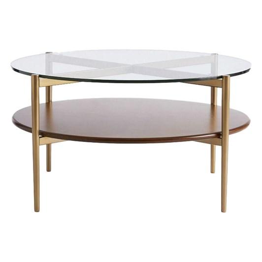 West Elm Mid Century Art Display Round Coffee Table