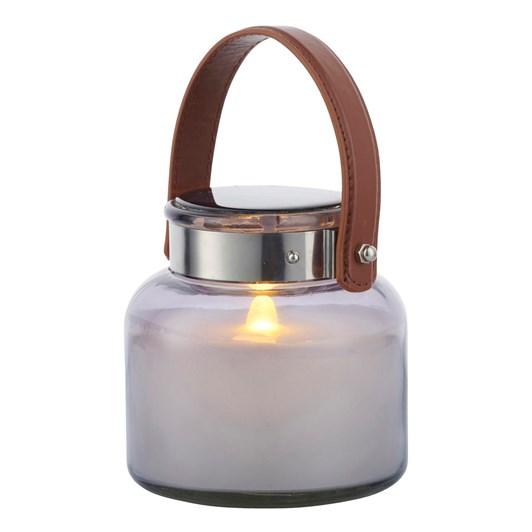 Sirius Adam LED Solar Lantern Grey White