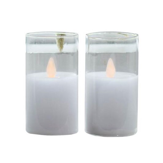 Sirius Ivy Glass Candle Mini Set Of 2 Clear