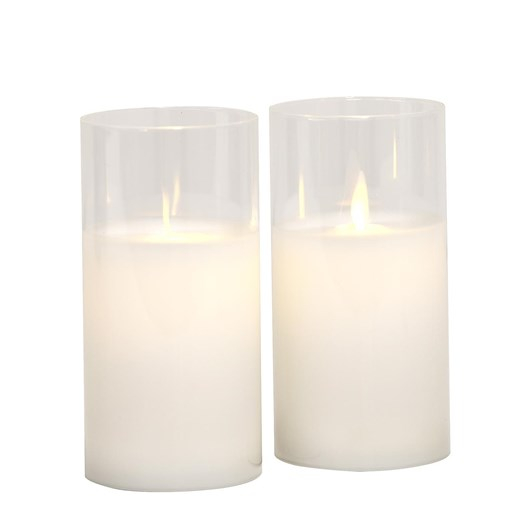 Sirius Ivy Glass Candle Set Of 2 Clear