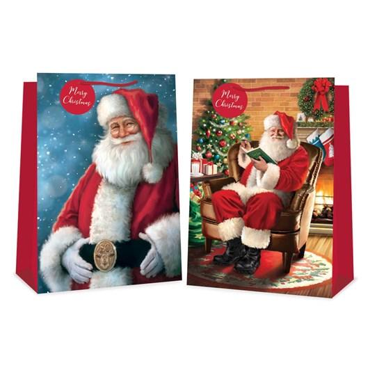 Image Gallery Xmas Bag Large Traditional Santa