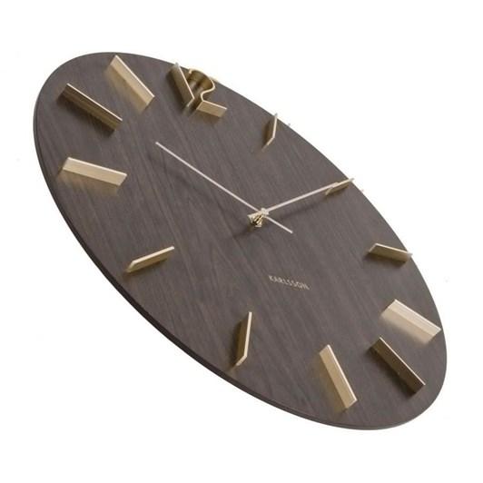 Karlsson Meek Wall Clock Dark Wood