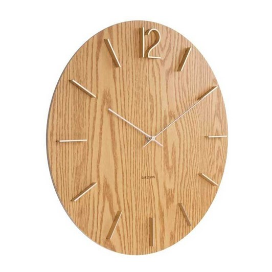 Karlsson Meek Wall Clock Light Wood