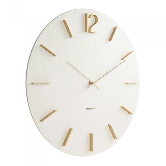 Karlsson Meek Wall Clock White