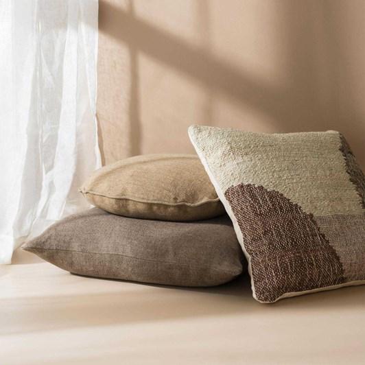 Citta Heavy Linen Jute Cushion Cover Bark  55X55Cm