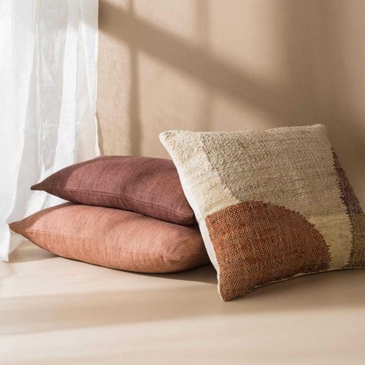Citta Heavy Linen Jute Cushion Cover Plum  50X30Cm