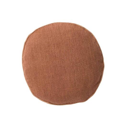 Citta Heavy Linen Jute Round Cushion Cover Masala 45Cmdia