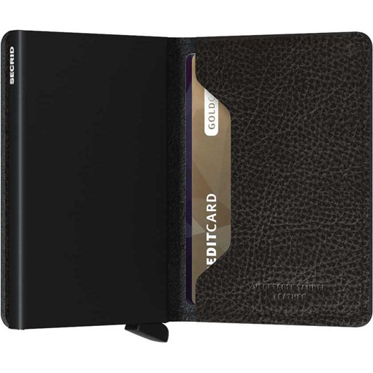 Secrid Slim Wallet Veg Tanned Black - Black