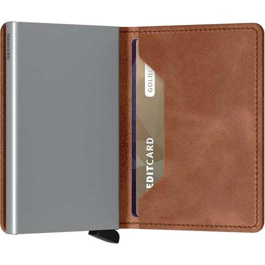 Secrid Slim Wallet Vintage Cognac - Silver
