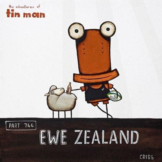 Tony Cribb Ewe Zealand Card