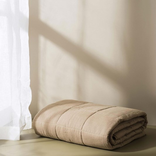 Citta Linen Quilted Blanket Pickle S 130x180cm
