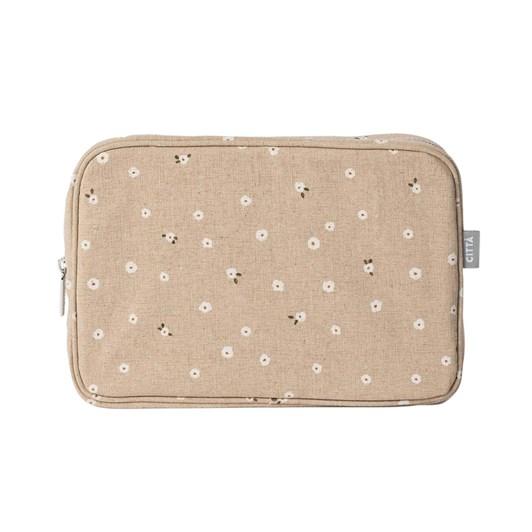 Citta Billie Cosmetic Case Latte/Multi L 28x8x19cmh