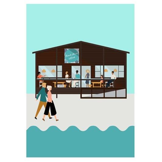 Beach Kiosk Cafe Card