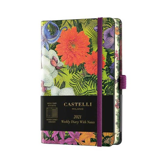 Castelli Eden 2021 Pocket Diary Week To View Orchid