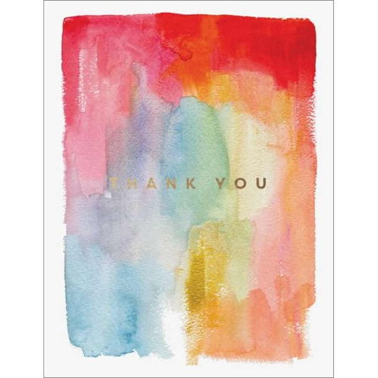 Colourful Thanks Foil Card