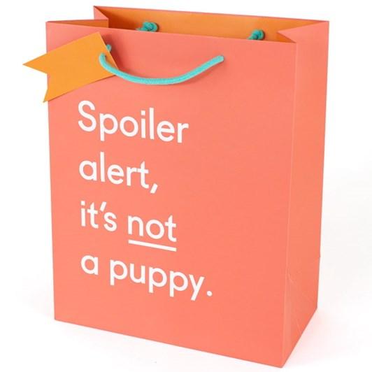 Vevoke Gift Bag Large Spoiler Alert Puppy