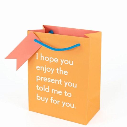 Vevoke Gift Bag Medium Enjoy The Present