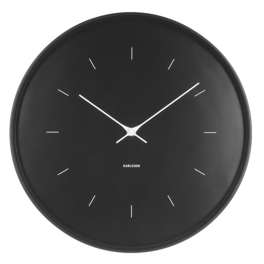 Karlsson Large Wall Clock Butterfly Hands Black