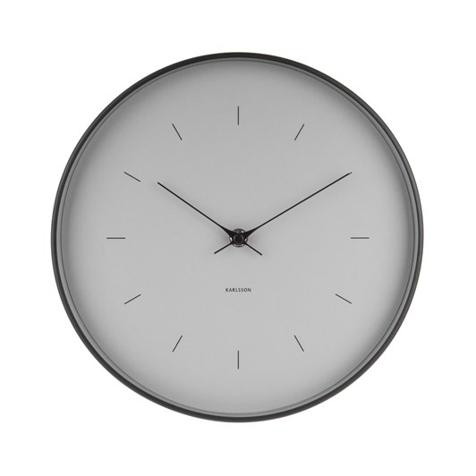 Karlsson Small Wall Clock Butterfly Hands Grey