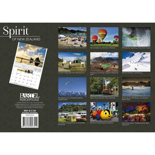 Spirit Of New Zealand Calendar 2021 318X215Mm