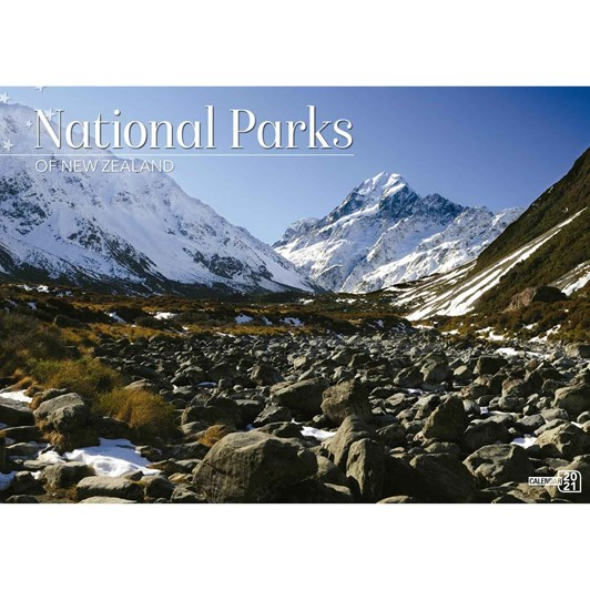 New Zealand National Parks Calendar 2021 318X215Mm