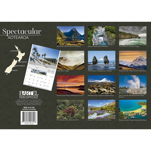 Spectacular New Zealand Calendar 2021 340X242Mm