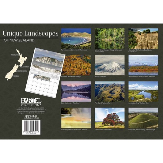 Landscapes Of New Zealand Calendar 2021 340X242Mm