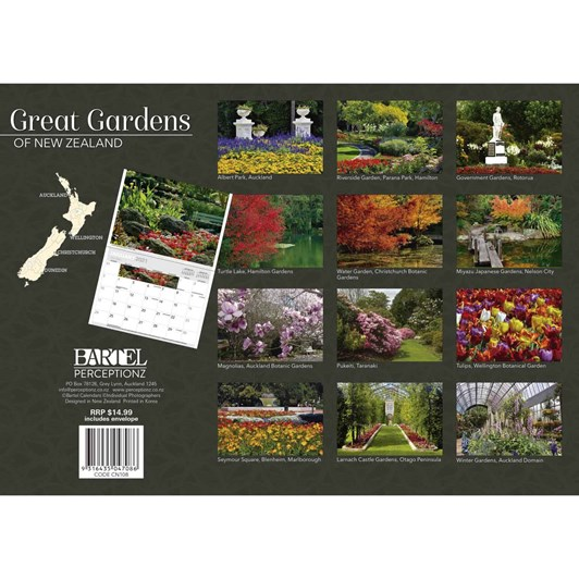 Gardens Of New Zealand Calendar 2021 340X242Mm