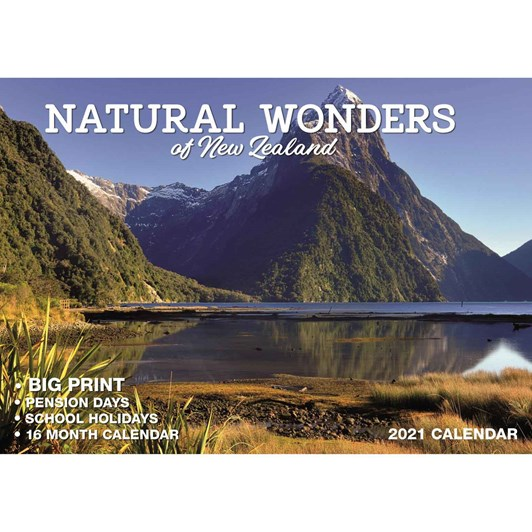 Wonders Of New Zealand Calendar 2021 Big Print