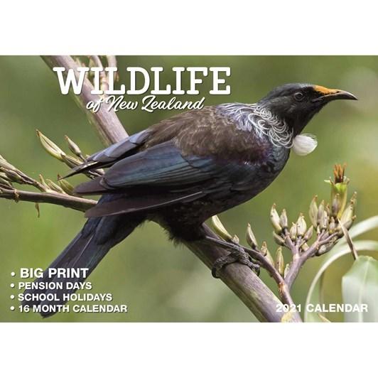 New Zealand Wildlife Calendar 2021 Big Print