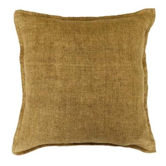 Mulberi Flaxmill Cushion With Feather Inner Fenugreek 50x50cm