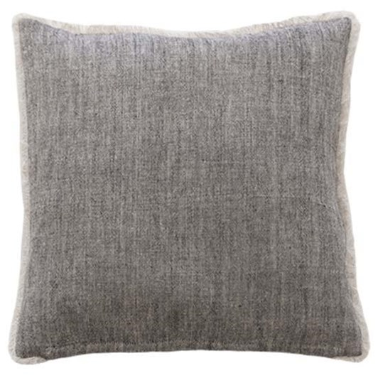 Mulberi Keaton Cushion With Feather Inner Black/Natural 55x55cm