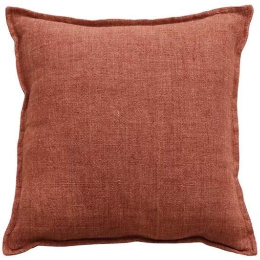 Mulberi Flaxmill Cushion With Feather Inner Chutney 50x50cm