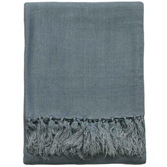 Mulberi Odelle Bamboo Throw Storm Blue 130x170cm