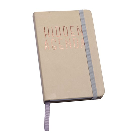 Hidden Agenda Small Faux Leather Journal