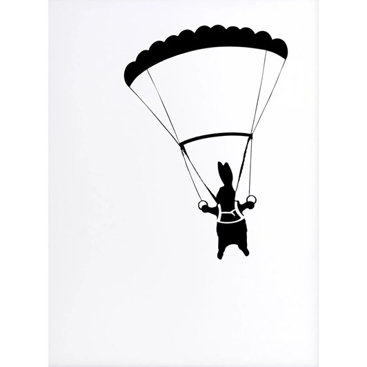 Ham Parachute Rabbit Screen Print