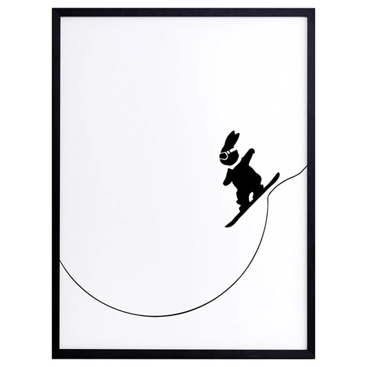Ham Snowboarding Rabbit Screen Print