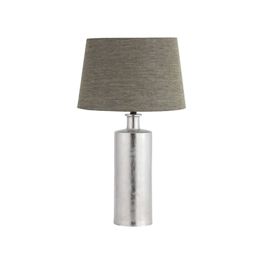 Nickel Table Lamp With Shade