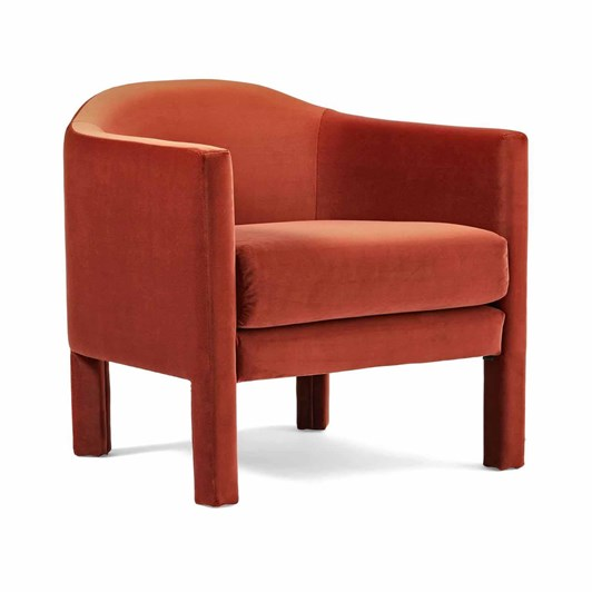 West Elm Isabella Upholstered Chair Astor Velvet