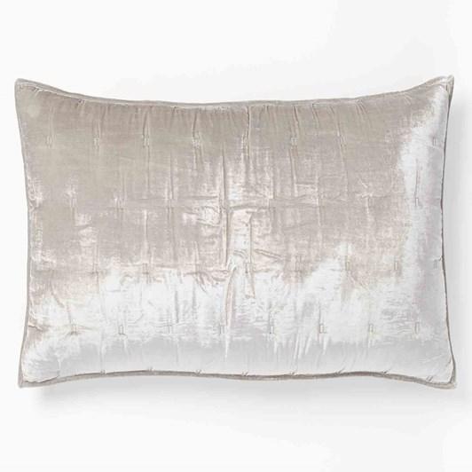 West Elm Lush Velvet Tack Stitch Pillowcase