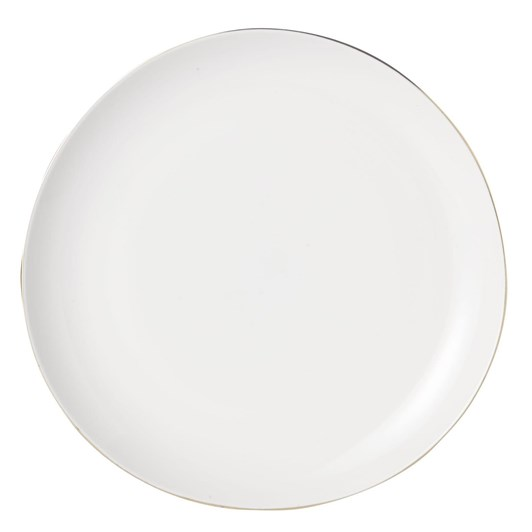 West Elm Organic Dinnerware Salad Plate Gold Rim