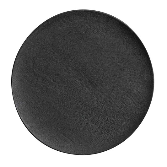 Pottery Barn Chateau Wood Charger Black