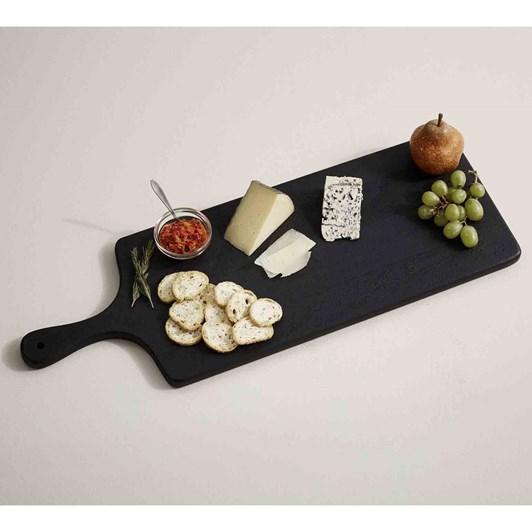 Pottery Barn Chateau Wood Cheese Board Black