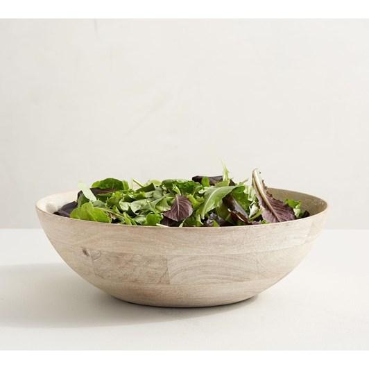 Pottery Barn Chateau Wood Salad Bowl White
